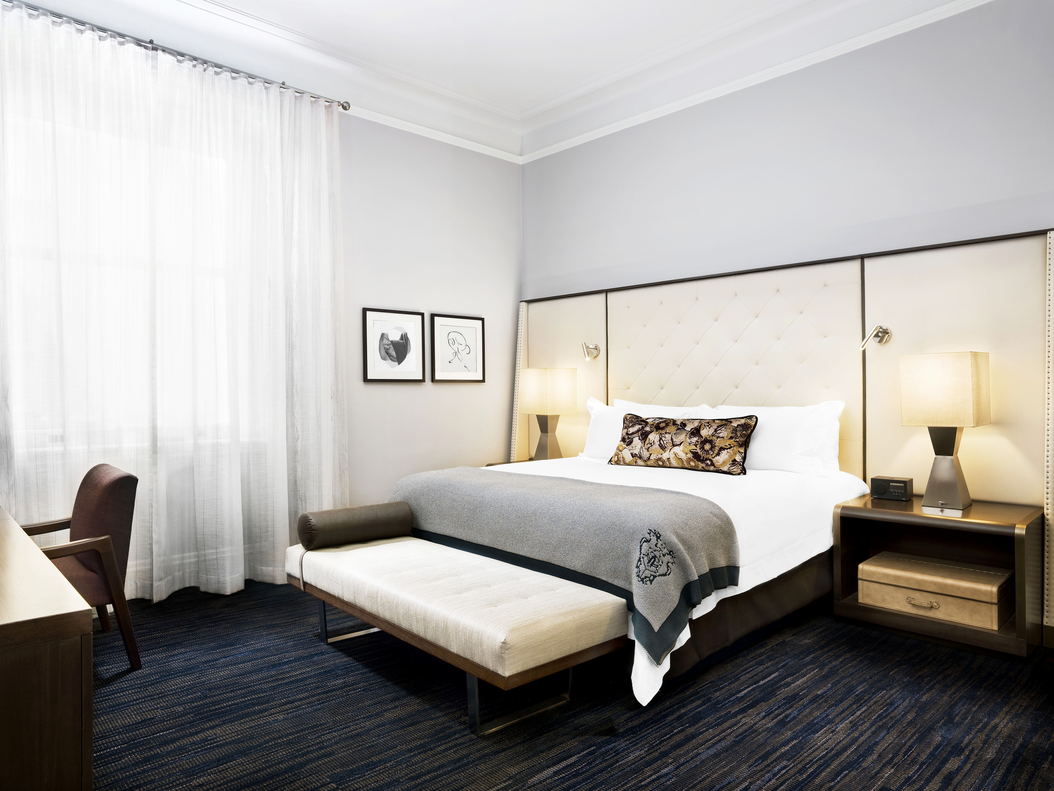 You could win a night's stay for two in a Superior Guest Room (pictured) at the Palace Hotel in San Francisco