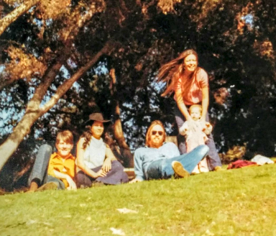 KQED staffer Heather Blosser sent us this picture of her parents (far right) with her as a toddler, taken in the 1960s