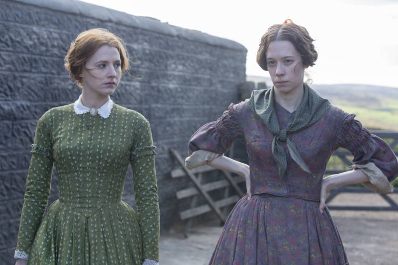 Picture Shows (from left to right): Anne Bronte (CHARLIE MURPHY) and Emily Bronte (CHLOE PIRRIE).(Courtesy of Gary Moyes/ BBC and MASTERPIECE) For editorial use only.