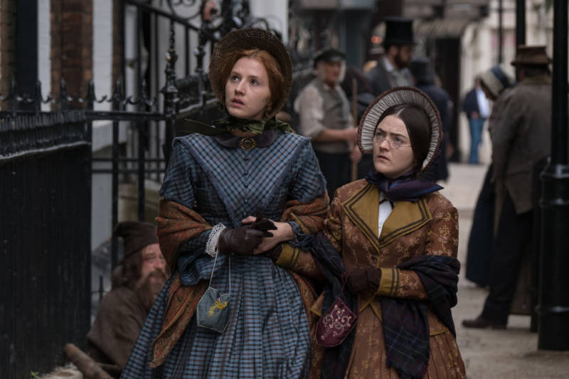 Picture Shows (from left to right): Anne Bronte (CHARLIE MURPHY) and Charlotte Bronte (FINN ATKINS). (Courtesy of Matt Squire/BBC and MASTERPIECE) For editorial use only.