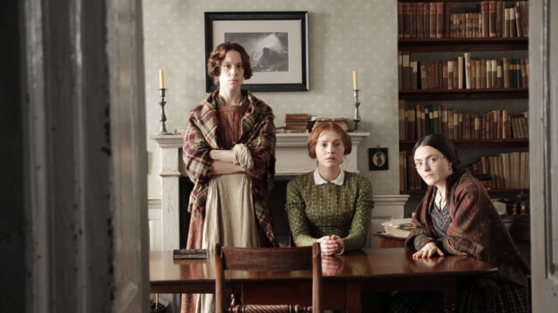 Picture Shows (from left to right): Emily Bronte (CHLOE PIRRIE), Ann Bronte (CHARLIE MURPHY), and Charlotte Bronte (FINN ATKINS). (Courtesy of Michael Prince/BBC and MASTERPIECE) For editorial use only.