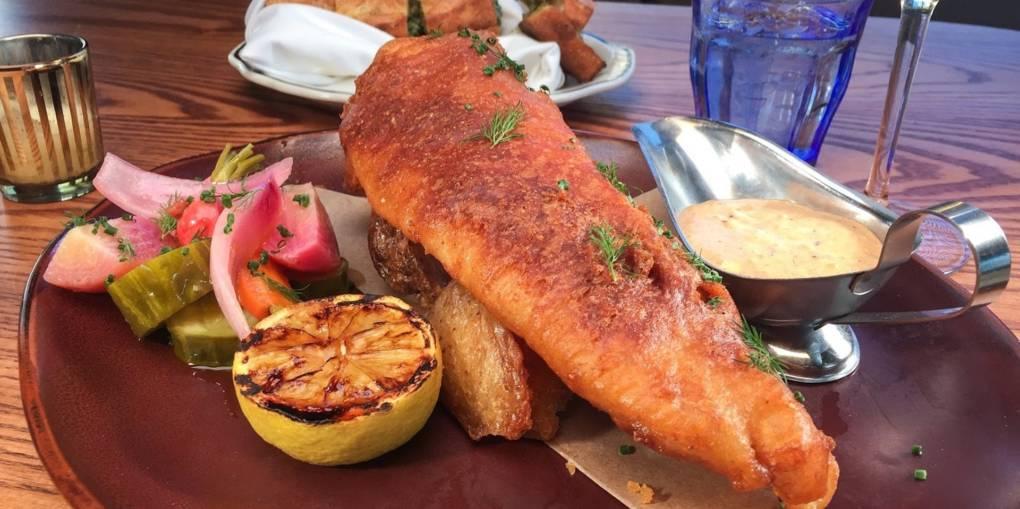 Fish & chips at Maybeck's