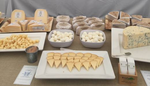Cheese spread at the Cheesemaker Celebration