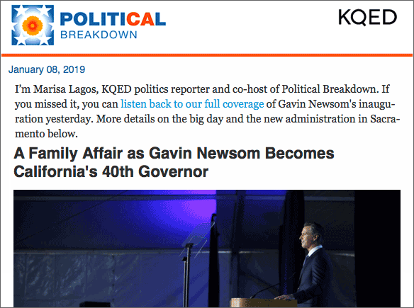 Political Breakdown Newsletter