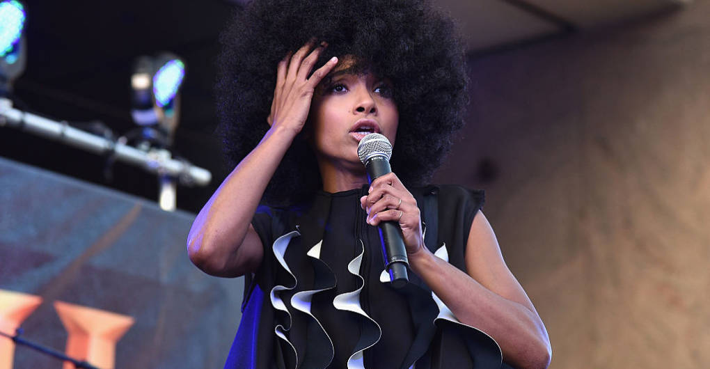 """Esperanza Spalding performs onstage as HISTORY presents NYC music festival """"Rhythm & Roots."""" Bryan Bedder/Getty Images for HISTORY"""