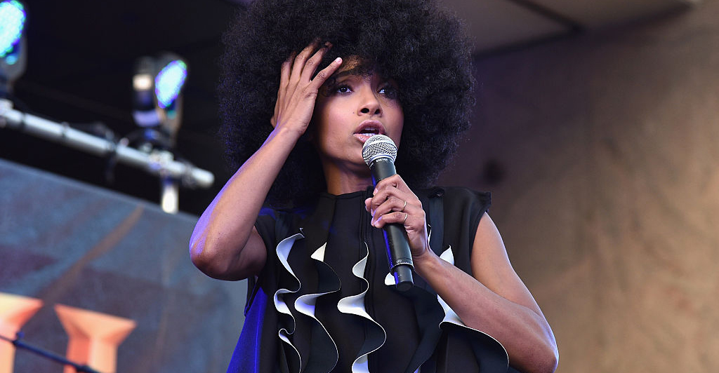 """Esperanza Spalding performs onstage as HISTORY presents NYC music festival """"Rhythm & Roots."""""""