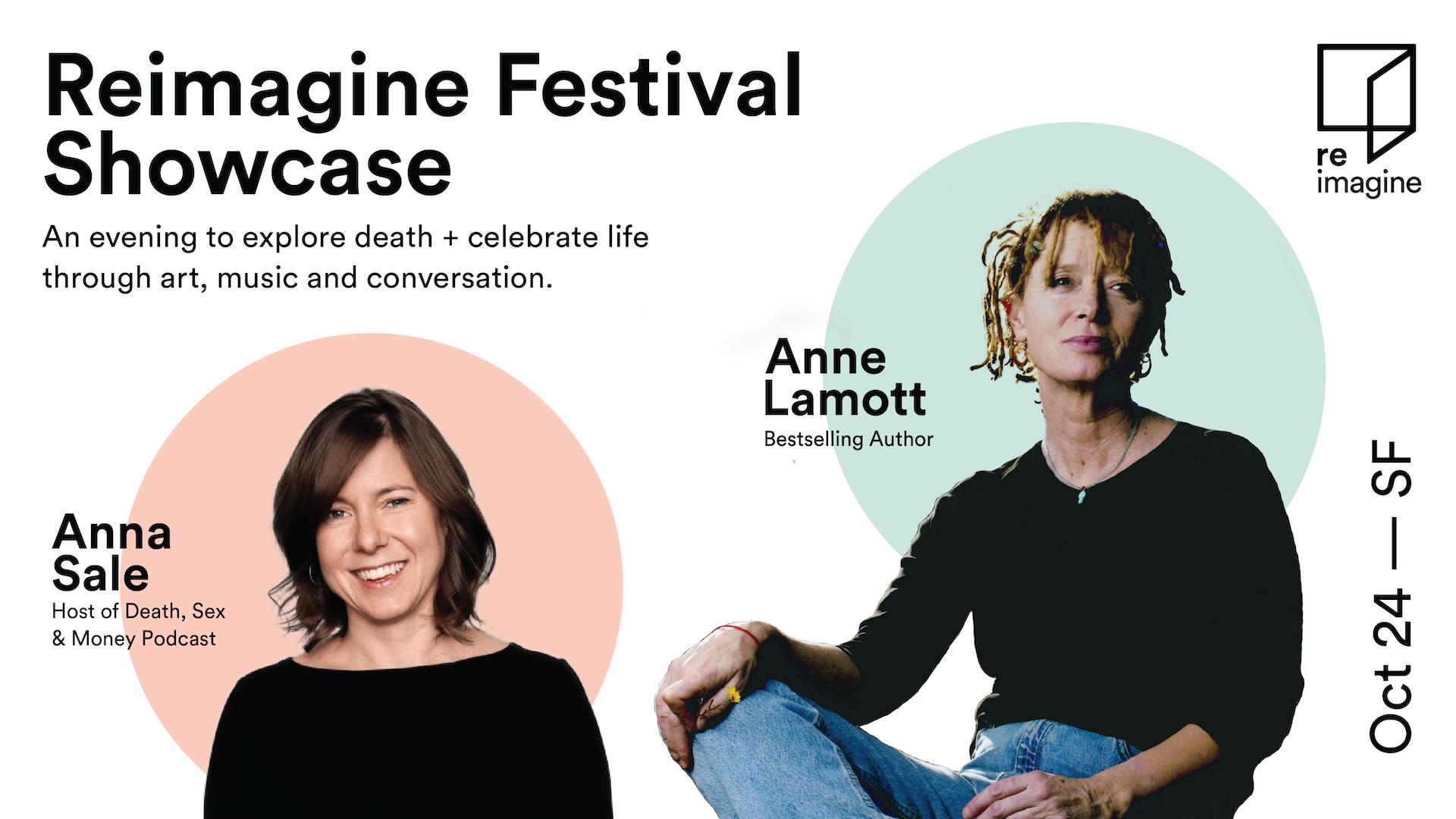 Reimagine Festival collaborators, Anna Sale and Anne Lamott