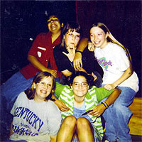 lizzy acker and friends at 13 years old