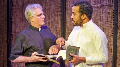 Arabian Shakespeare Festival Brings 'A Message' to San Francisco-Ray Renati (left) and David E. Moore in A Message; photo: Gregg Le Blanc