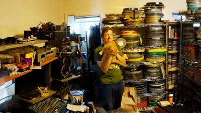 "The Projectionist-Peter Conheim and ""Turkey""; Photo by  Taylor Jessen"