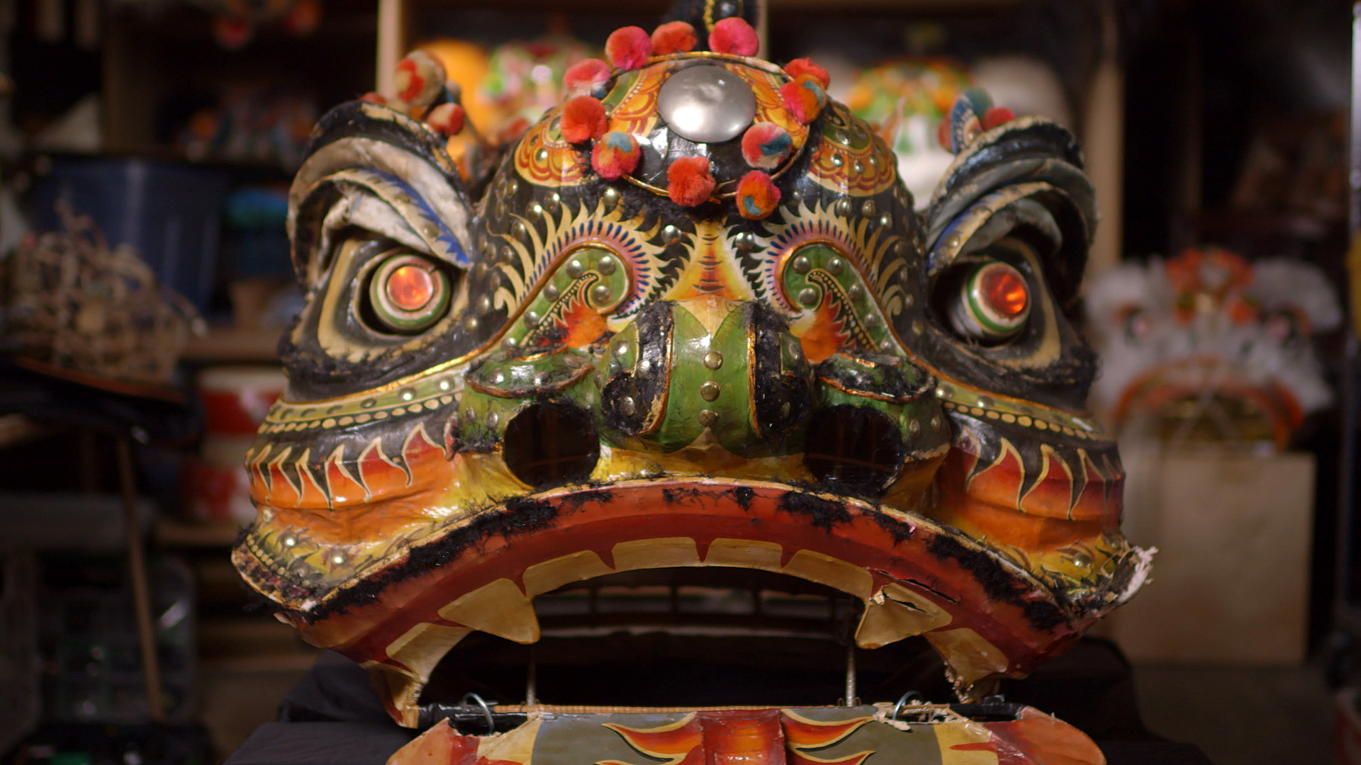 Lion dance costume head