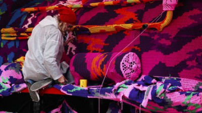 Olek Covers the World in Crochet-