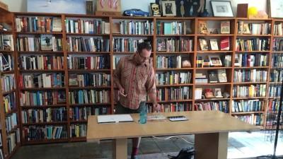 At Adobe Books with Chris Johanson-