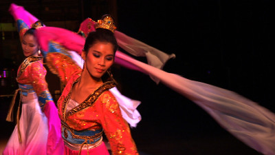 Dancers in the Chinese Performing Arts of America spring show