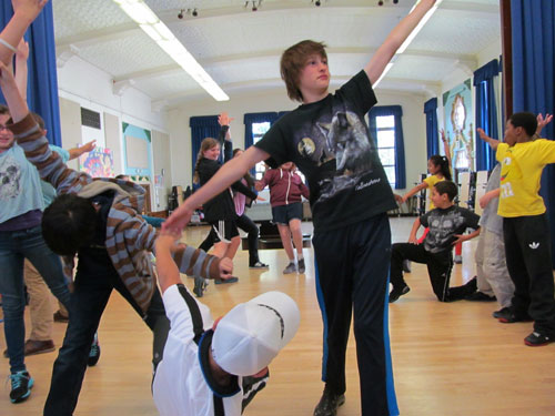 Natalie Greene's music theater class at Claire Lilienthal Alternative School