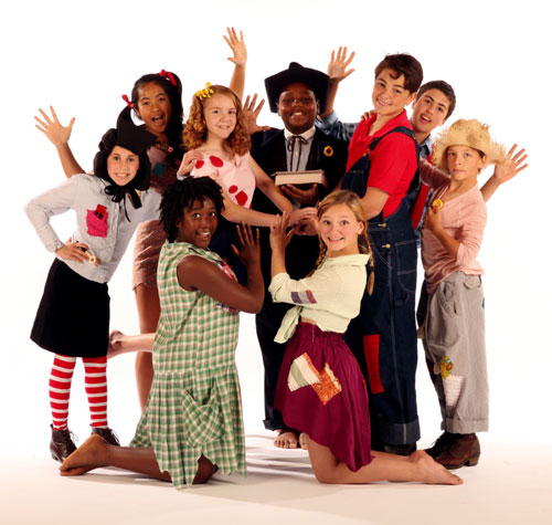 (clockwise from left front) Tory Carter, Libby Bass, Emilie Suarez, Ariella Berkman, Tosh Harris-Santiago, Ari Atken, Teddy Northrop, Peter Ustinov and Angie Pohl star in the SFArtsED Players production of Li'l Abner