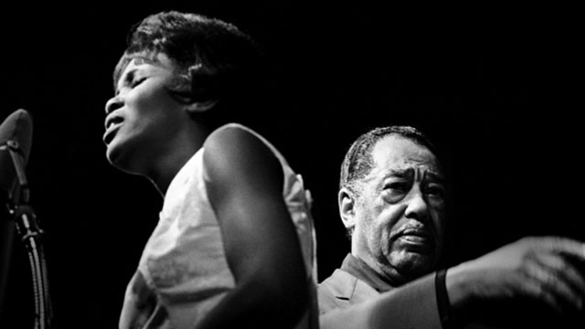 Mary Stallings on stage with Duke Ellington at the 1965 Monterey Jazz festival