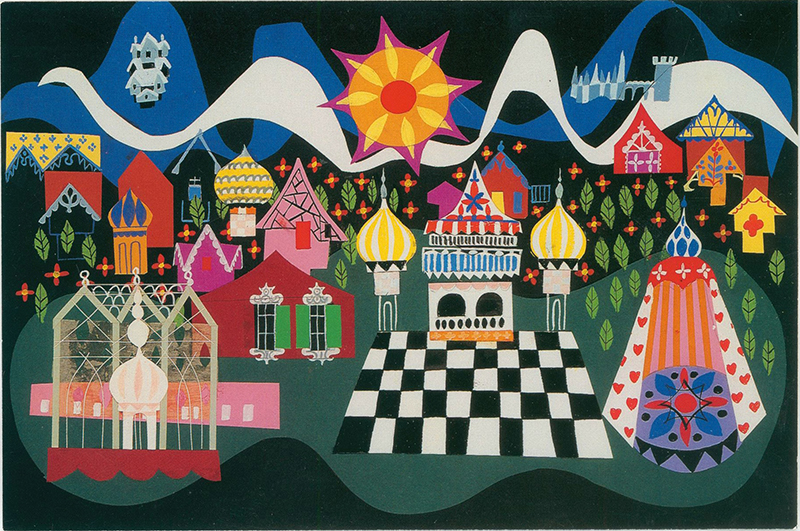 Mary Blair, it's a small world concept art, ca. 1966;