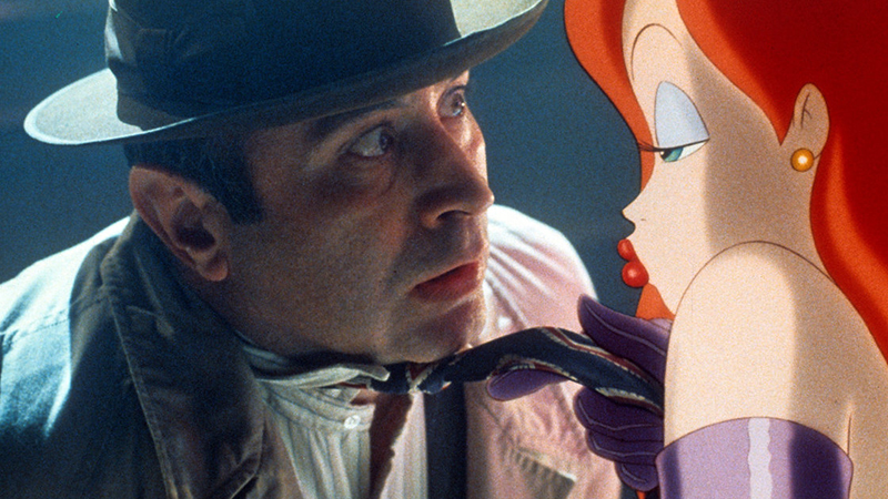 Hoskins in one of his most memorable roles, detective Eddie Valiant in Who Framed Roger Rabbit.