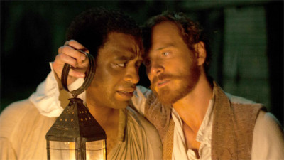 Chiwetel Ejiofor and Michael Fassbender in 12 Years a Slave