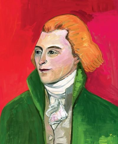 Thomas Jefferson portrait by Maira Kalman