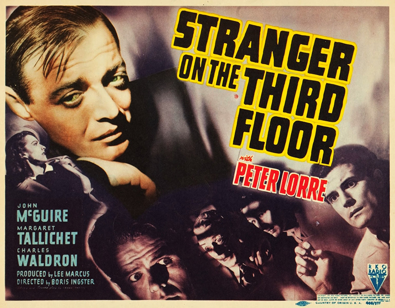 Poster for <i>Stranger On The Third Floor</i>