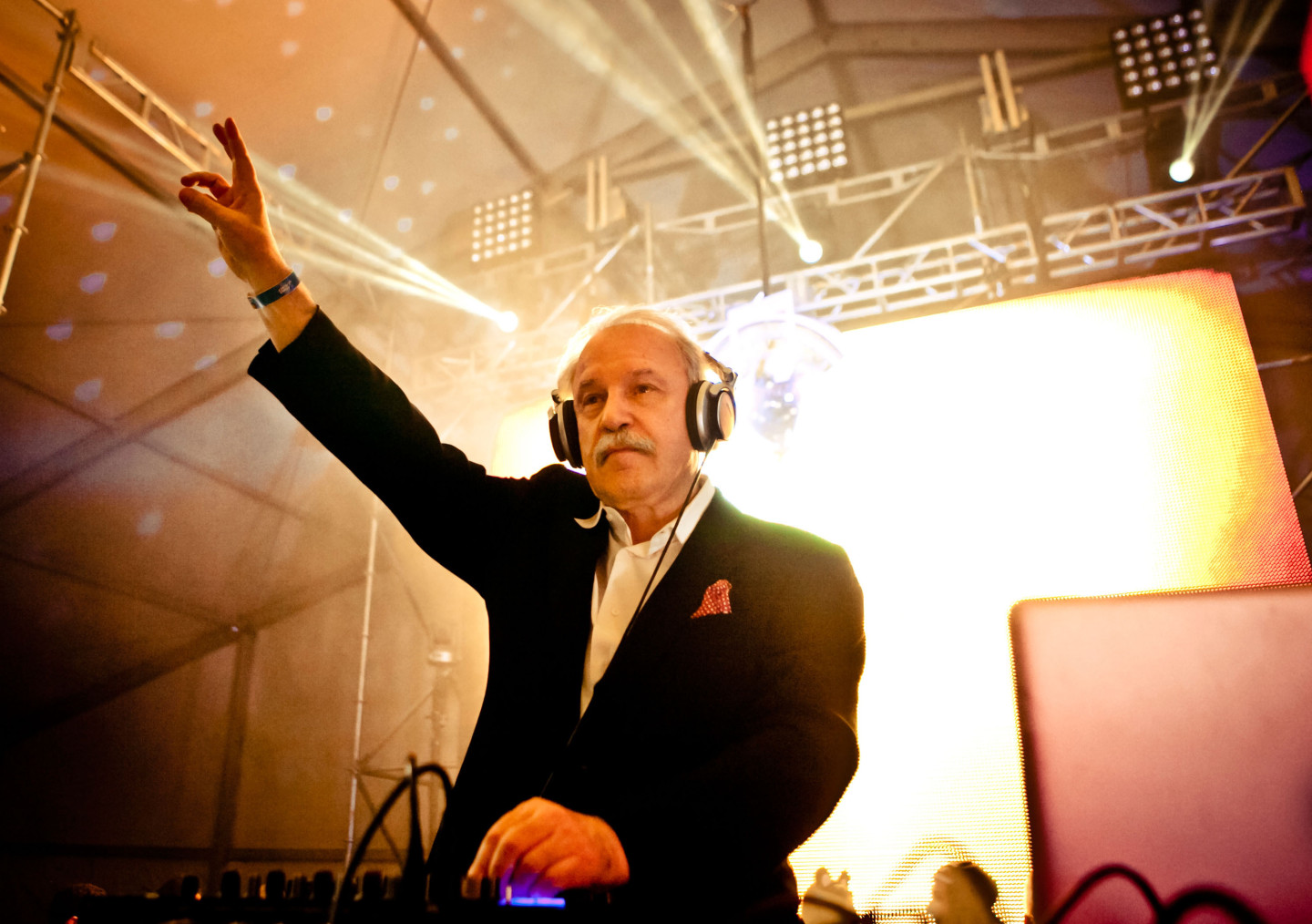 Giorgio Moroder performs at HARD Day Of The Dead in Los Angeles in November 2013.