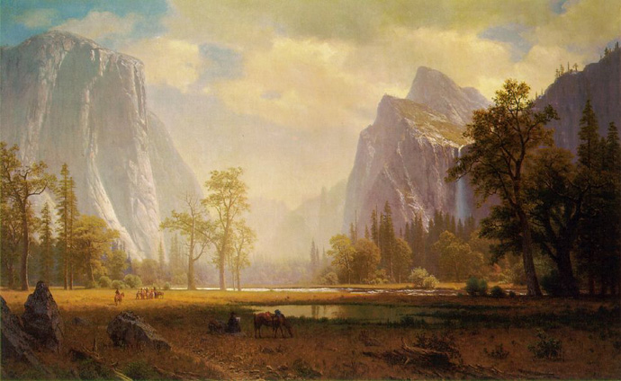 Albert Bierstadt, Looking Up the Yosemite Valley, ca. 1865-67