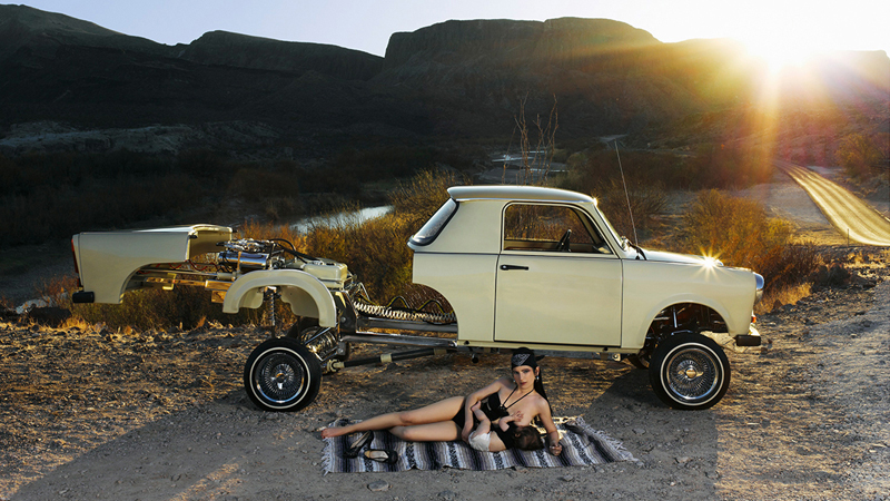 Liz Cohen Lowrider Builder and Child, 2012; Courtesy of the artist and Salon 94, New York