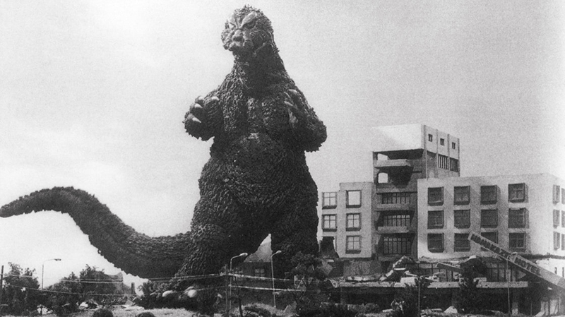 A still from Ishiro Honda's 1954 film Godzilla.