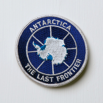 Antarctica Patch, contributed by Micaela Neus; Courtesy of A People's Archive of Sinking and Melting