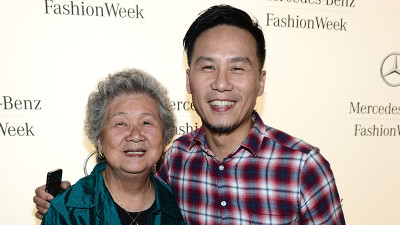 Archives: Roberta Wong and BD Wong attend the Mercedes-Benz Star Lounge during Spring 2013 Mercedes-Benz Fashion Week on September 11, 2012 in New York, New York.