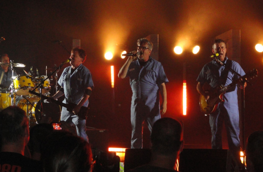 "DEVO performs ""Uncontrollable  Urge"" at Arcada Theatre in St. Charles, IL - June 21st, 2014. (Credit: Michael Pilmer/Devo-Obsesso)"