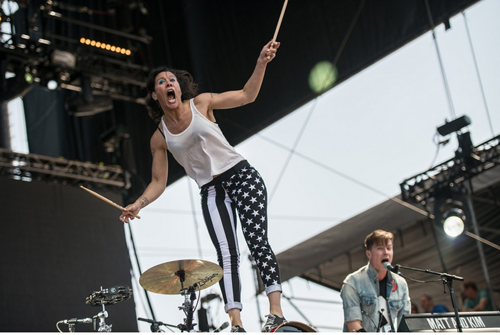 Matt and Kim at BottleRock 2014.
