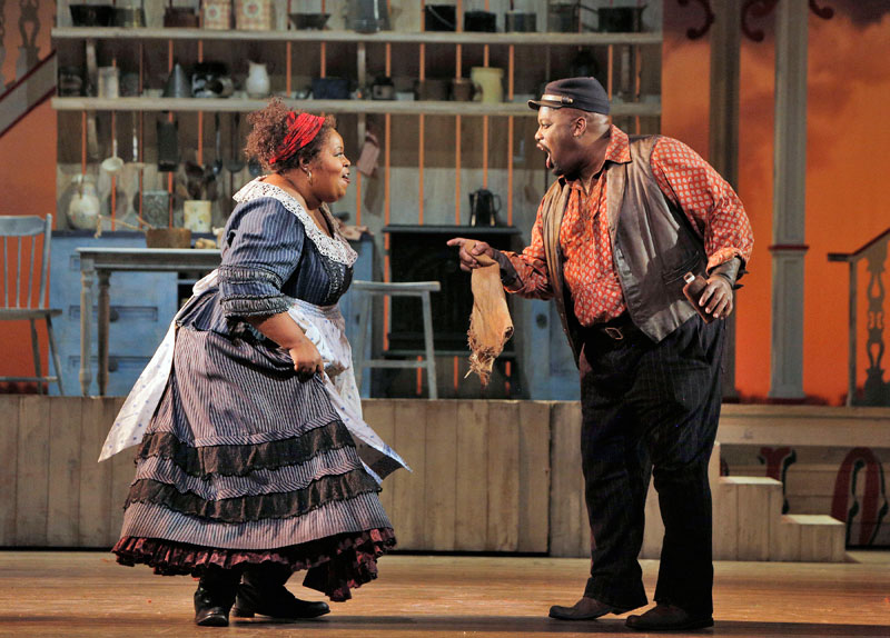 Angela Renée Simpson as Queenie and Morris Robinson as Joe in San Francisco Opera's Show Boat.