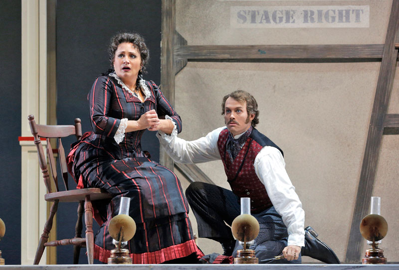 Patricia Racette as Julie La Verne and Patrick Cummings as her husband Steve Baker in San Francisco Opera's Show Boat.