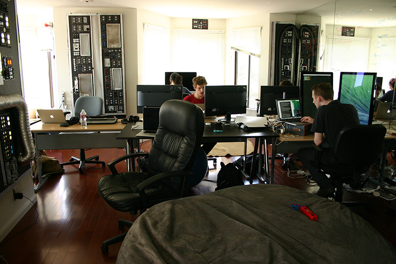Patreon's engineering and product departments have taken over the living room of the company cofounders' Noe Valley apartment