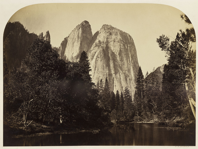Carleton E. Watkins, River View, Cathedral Rock, Yosemite, 1861; courtesy California Historical Society.