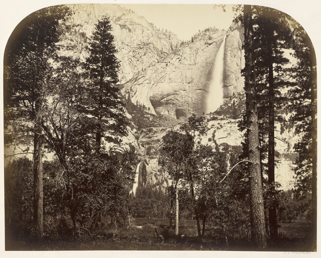 Carleton E. Watkins, Yosemite Falls from the Upper House,1861; courtesy California Historical Society.