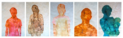 Aura Portraits by Lori Gordon; Curated by Adobe Books Backroom Gallery
