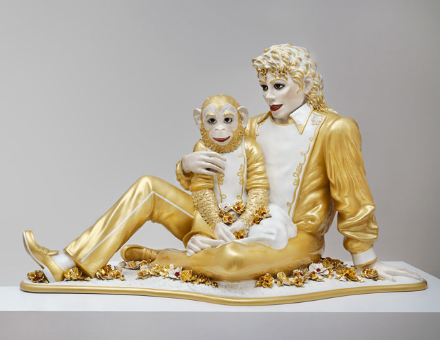 Jeff Koons, Michael Jackson and Bubbles, 1988