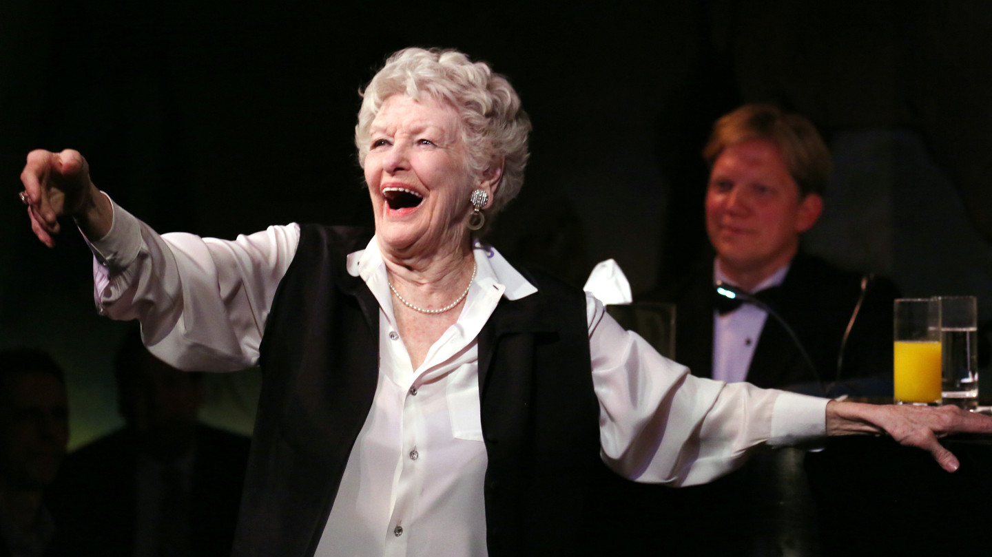 Elaine Stritch in her final engagement at the Cafe Carlyle in New York in 2013. Stritch bade farewell to New York with a series of concerts last spring; she died Thursday in Michigan.