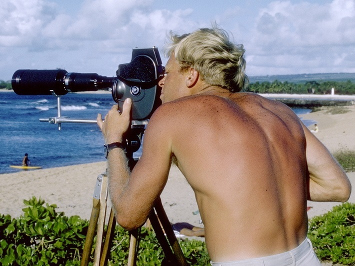 After the film's success,<em> </em>director Bruce Brown (pictured above during filming) directed four additional documentaries, including a sequel<em> </em>-- <em>The</em> <em>Endless Summer II</em>.
