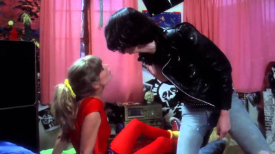 P.J. Soles and Joey Ramone in Rock 'n' Roll High School