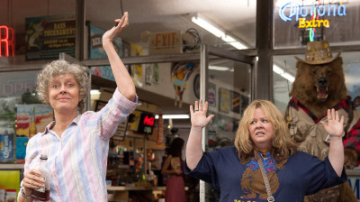 Melissa McCarthy co-wrote, produced and stars as the title character in Tammy -- a comedy about a woman on a felonious road trip with her alcoholic grandmother, played by Susan Sarandon (left).