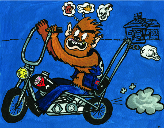 """Werebiker"" by Hessig"