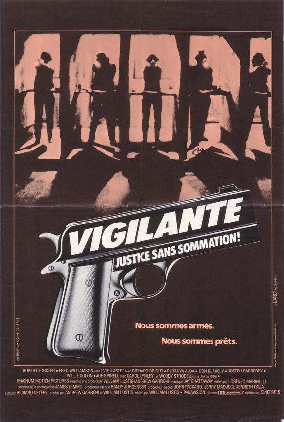 Vigilante poster -- in French.
