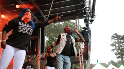 Big Freedia ripping it up on Day 2 of Outside Lands