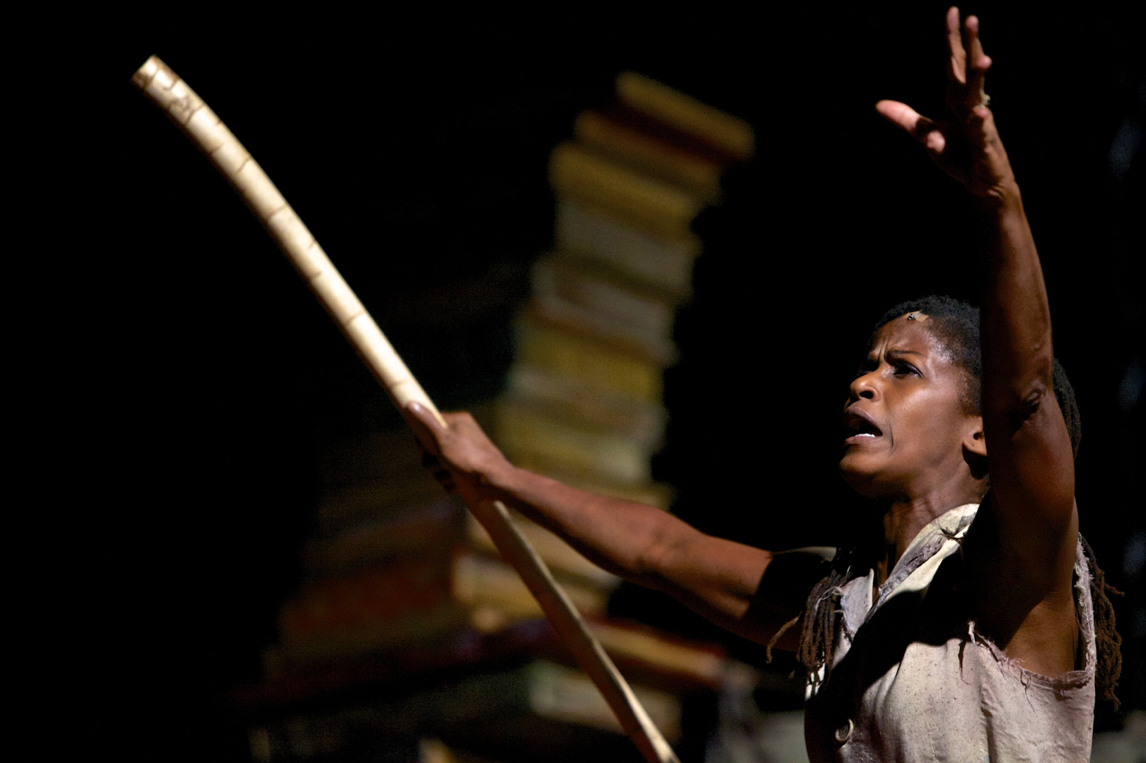 """Bahni Turpin as Prosper in """"California: The Tempest."""" Photo by Kevin Michael Campbell."""