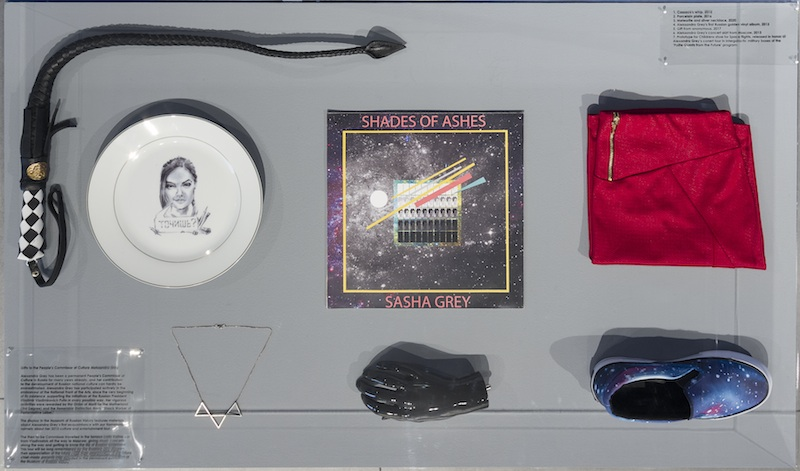 <i>Gifts to the People's Commissar of Culture, Aleksandra Grey</i>, 2013 - 2020. Collection of the Museum of Russian History. Photo by Phillip Maisel. Courtesy Kadist Art Foundation.
